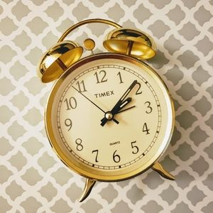 Gold Timex Alarm Clock ⏰